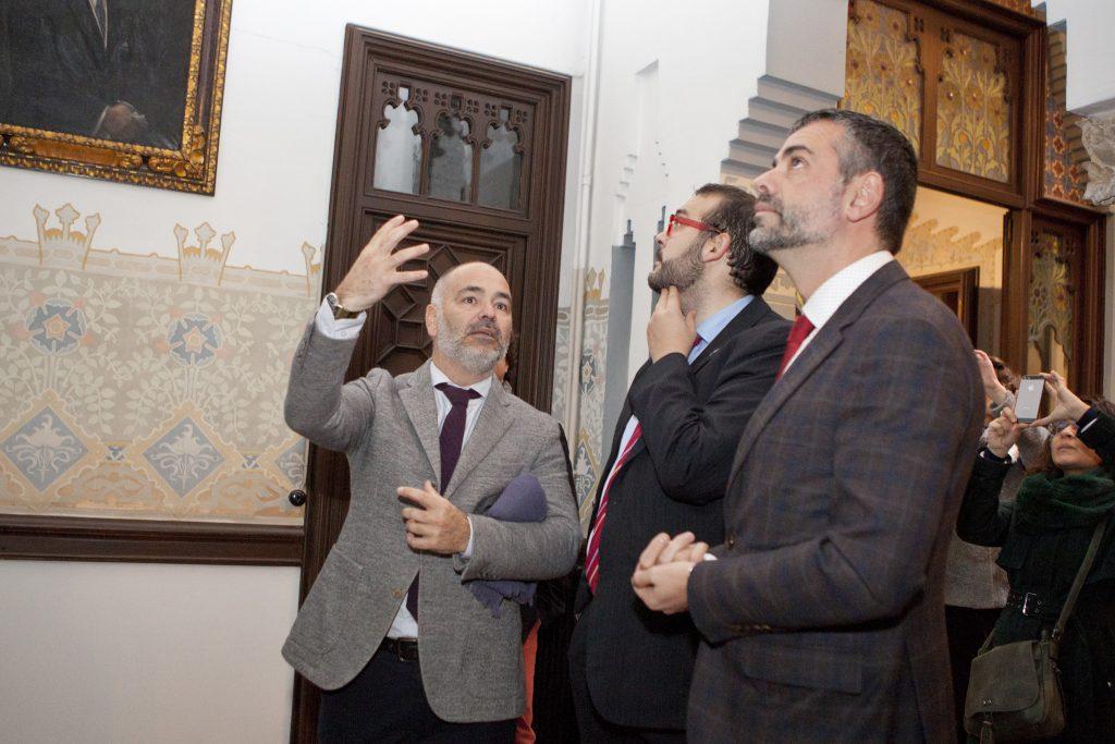 Visita del conseller de Cultura de la Generalitat de Catalunya, Santi Vila