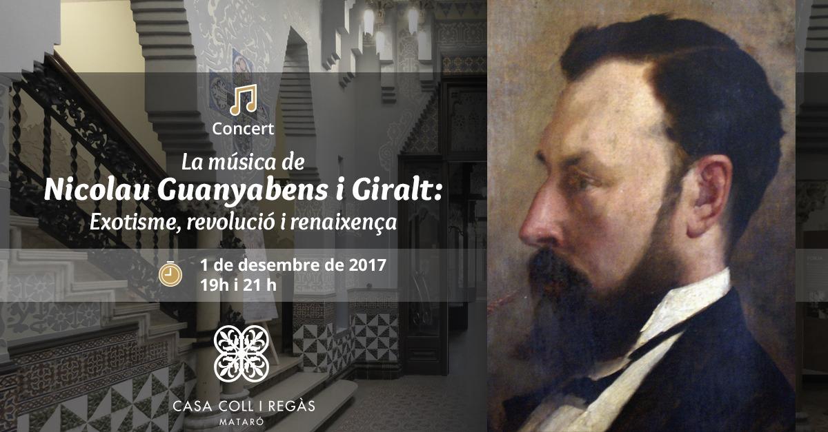 Concert. La Música De Nicolau Guanyabens I Giralt.